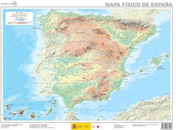 Mapas Físicos Y Políticos España 2019 (pdf Para Imprimir)