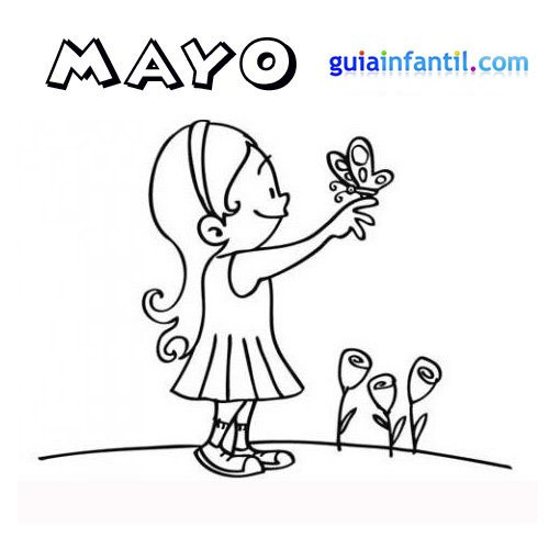 Bonitos Dibujos Para Pintar Del Mes De Mayo