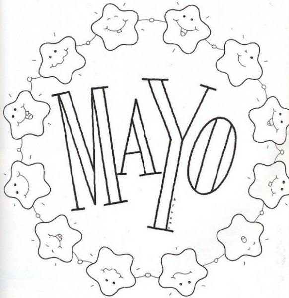 Carteles Del Mes De Mayo Para Imprimir Y Colorear