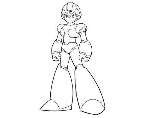 Megaman Para Colorear