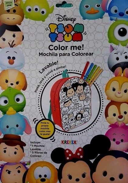 Mochila Para Colorear Tsum Tsum Lavable Envio Gratis Caba