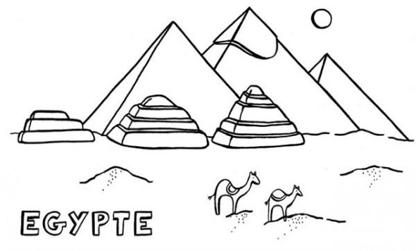 Pirámides De Egipto Para Colorear