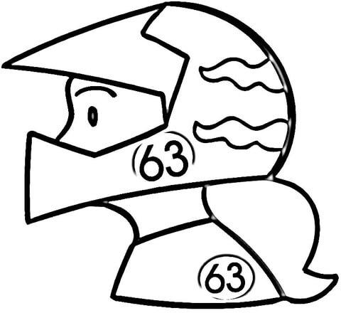 Dibujo De Una Motociclista Para Colorear