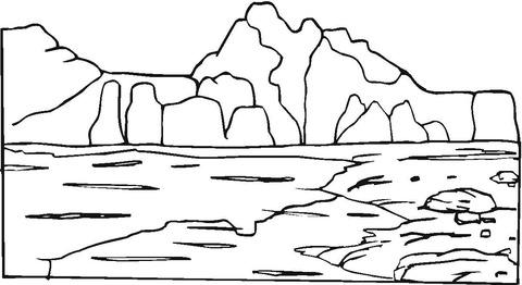 Dibujo De Montañas Y Rocas Para Colorear