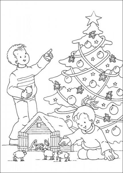 Niños Decorando Para Navidad