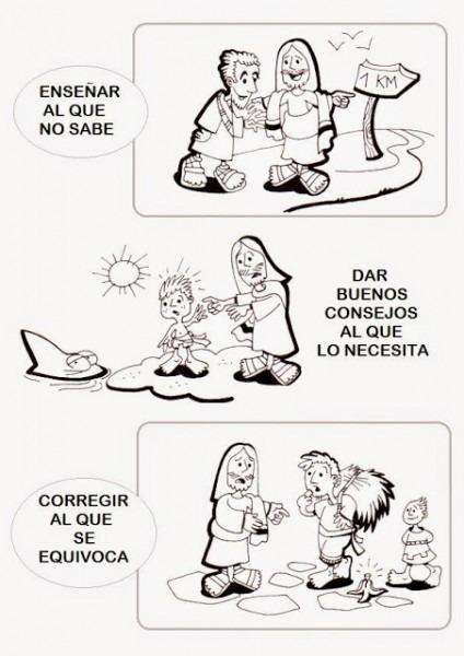 Peques Y Pecas  Fichas Imprimibles  Las Obras De Misericordia