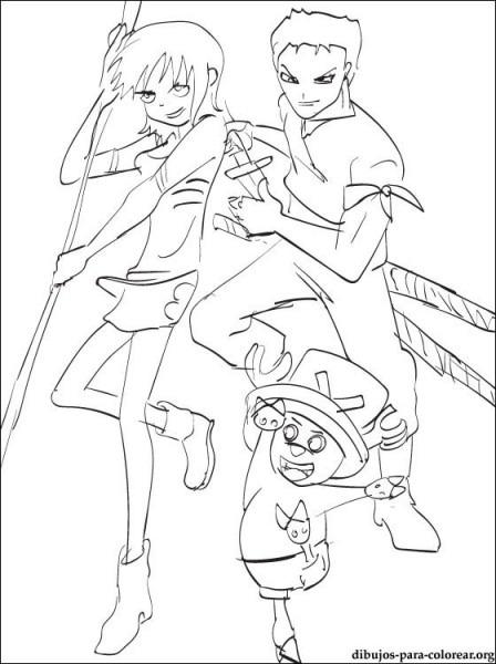 Dibujo One Piece Para Pintar