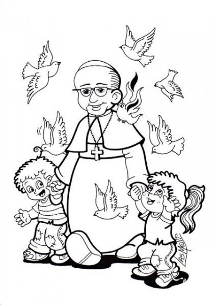 EducaciÓn Religiosa  Dibujos Para Colorear  Papa Francisco