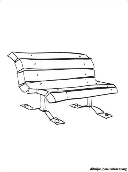Dibujo De Banco Del Parque Para Imprimir