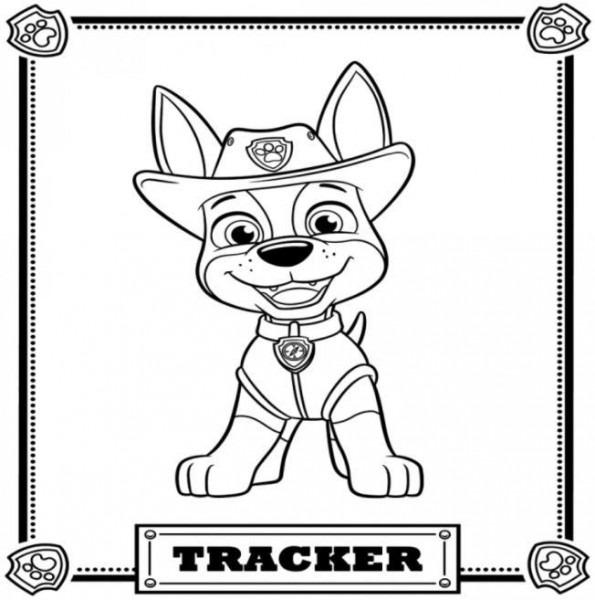 Patrulla Canina Para Colorear Marshall Tracker