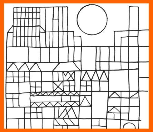 Arte Para Niños  Dibujos De Paul Klee Para Pintar Y Colorear