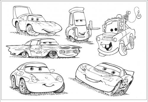 Increibles Dibujos Para Colorear De Los Personajes De Cars