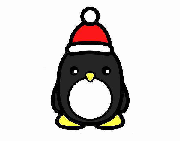 Dibujo De Pingüino Navideño Pintado Por En Dibujos Net El Día 07
