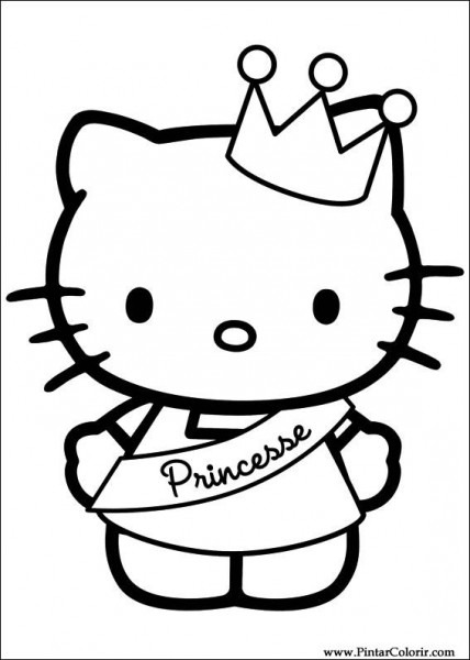 Dibujos Para Pintar Y Color Hello Kitty