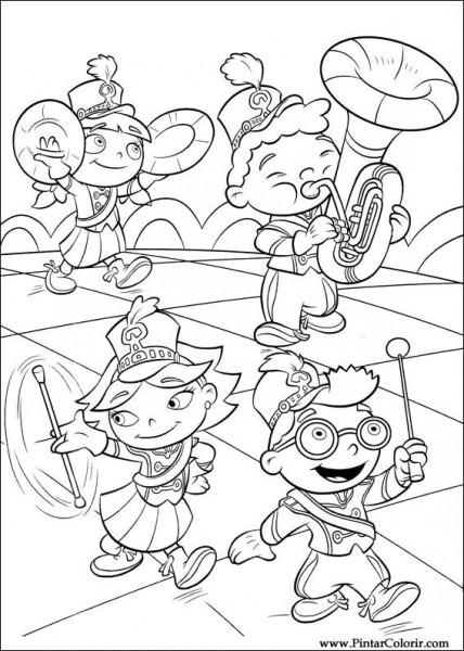Dibujos Para Pintar Y Color Little Einsteins