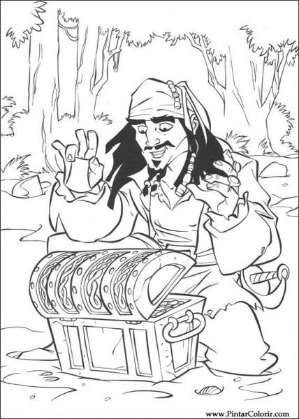 Dibujos Para Pintar Y Color Piratas Del Caribe