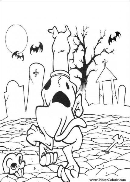 Dibujos Para Pintar Y Color Scooby Doo