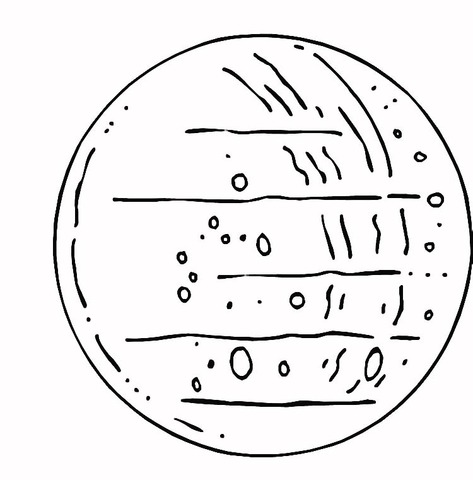 Dibujo De Planeta Mercurio Para Colorear