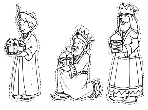 Reyes Magos Con Camellos Para Colorear
