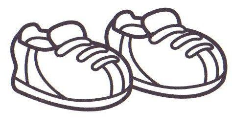 Unos Zapatos Para Colorear
