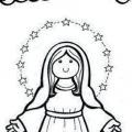 Imagenes De La Virgen Del Rosario Para Colorear
