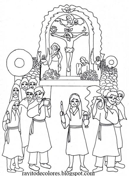 Compartiendo Por Amor  Dibujos Señor De Los Milagros