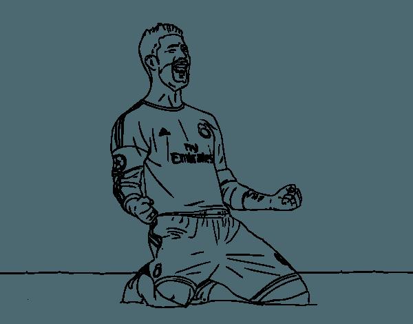 Dibujos De Sergio Ramos Para Colorear