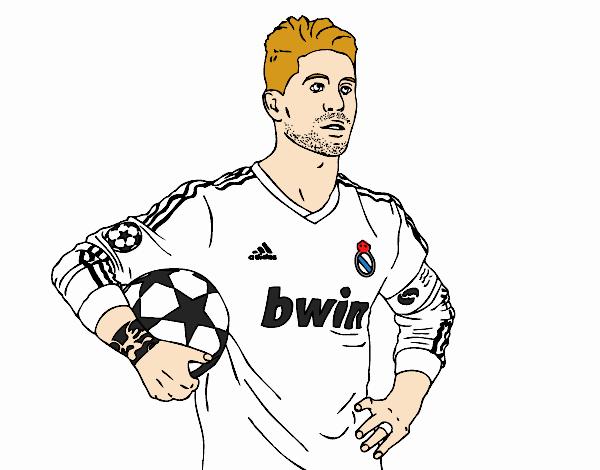 Dibujo De Sergio Ramos Del Real Madrid Pintado Por En Dibujos Net