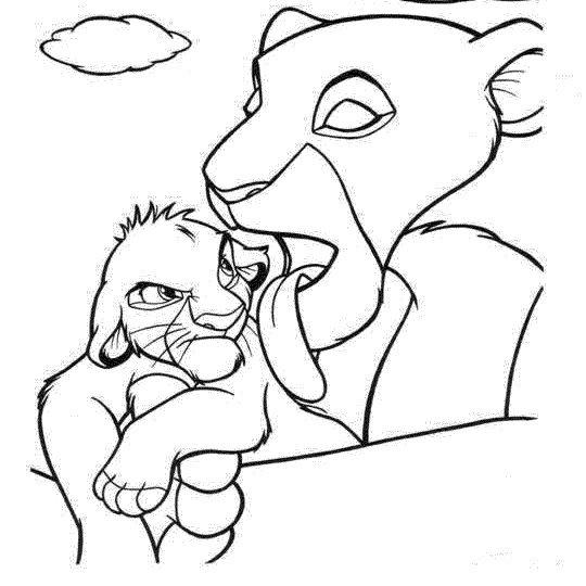 Simba Para Colorer, Pintar A Simba Del Rey León