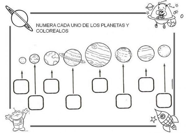 Fichas Sobre El Sistema Solar Para Niños