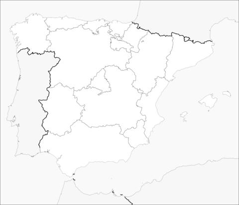 Dibujo De Mapa De España Para Colorear