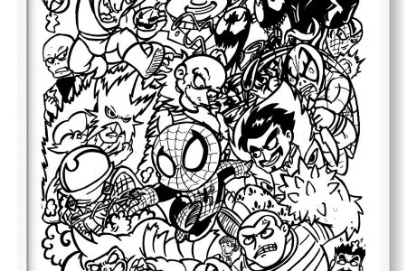 Spiderman Para Colorear + 130 Imágenes Del Hombre Araña Para Pintar!