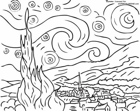 Dibujos De Vincent Van Gogh Para Colorear