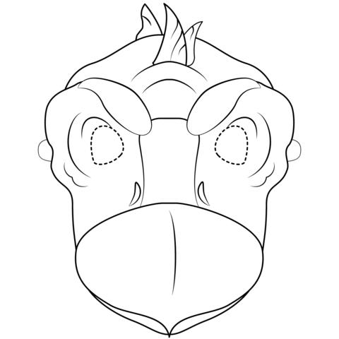 Dibujo De Máscara De Stegosaurio Para Colorear