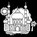 Taj Mahal Para Colorear