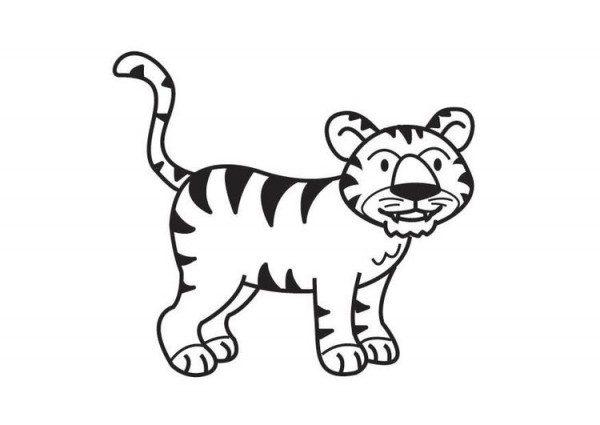 Dibujos De Tigres Para Colorear, Descargar E Imprimir