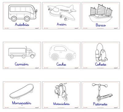 Dibujos De Transportes Para Colorear