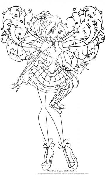 Dibujo De Bloom De Las Winx Club Para Colorear
