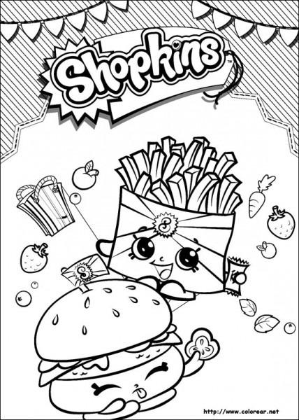 Dibujos Para Colorear De Shopkins