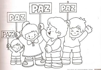 El Rincon De La Infancia  ♥ Dibujos Para Pintar Sobre La Paz ♥