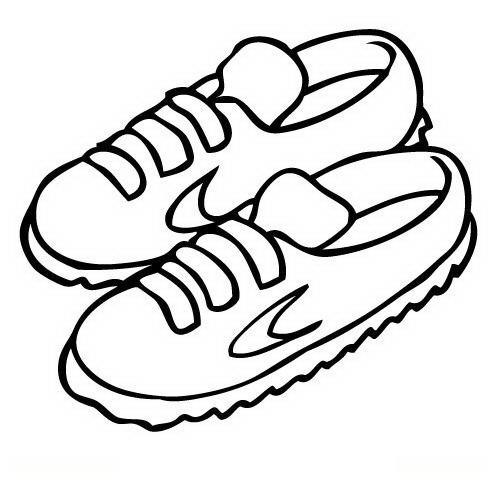 Figuras Para Colorear De Unos Zapatos
