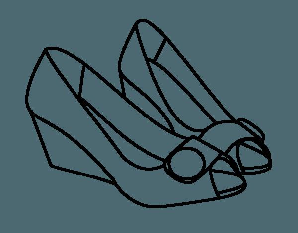 Dibujo De Zapatos Bonitos Para Colorear