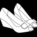 Dibujo De Unos Zapatos Para Colorear
