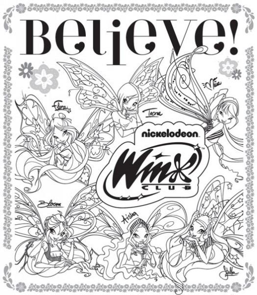 Winxgroup  Actividades Y Dibujos Para Colorear Winx Club Believix!