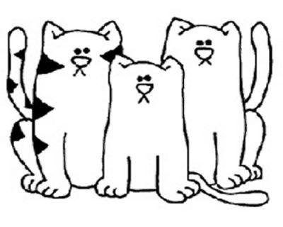 Imagenes De Gatos Tiernos Para Colorear Para Niños