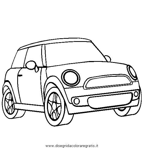 Prinable Mini Car Colouring