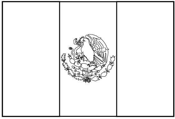 Bandera De Mexico Para Colorear Tamaño Carta , Muchas Gracias