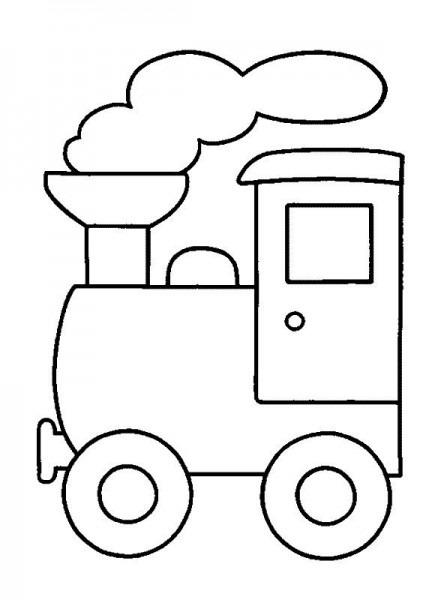 Dibujos Para Colorear De Transportes  Coches, Barcos, Trenes