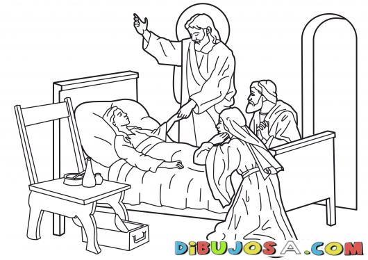 Dibujo De Jesus Resusitando A La Hija De Jairo