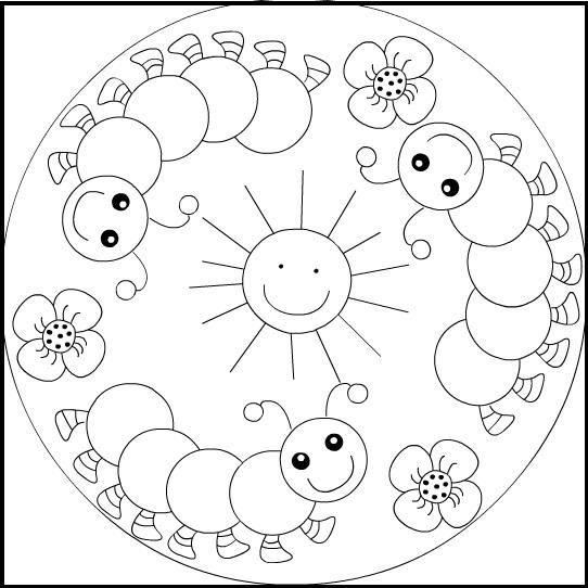 Mandalas Para Colorear Infantiles  Presenta Una Selección De Cinco